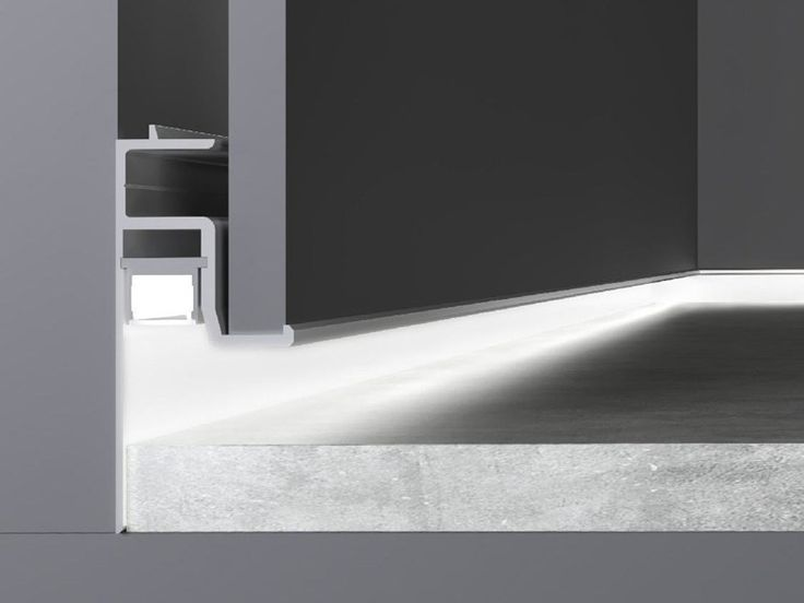 Perfil para iluminación lineal encastrable para LED SKIRTING by Olev by CLM Illuminazione diseño Michele Marcon