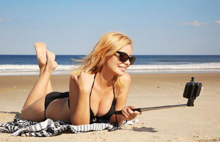 Selfie stick na plaży z http://mamiya.com.pl/selfie-stick/ #Selfie #stick