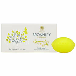 Bronnley Citrus Soap Sets Bronnley is a proud Royal Warrant Holder to Her Majesty Queen Elizabeth II. Indulge your skin with these triple milled soaps enriched with moisturizing and smoothing shea butter. Vibrant and uplifting, the fragrance of Lemon & Neroli imparts zesty top notes of sparkling Sicilian lemon and mandarin that give way to a heart of lemon blossom and neroli. Each set contains 3 x 3.5oz (3 x 100g) bars. Made in the UK. Choose Lemon & Neroli, Lime & Bergamot or Orange…