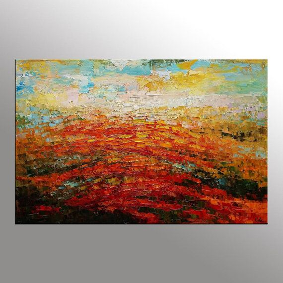 Extra Large Painting Canvas Wall Art Framed Oil By