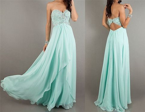 Elegant chiffon strapless Beadings diamond prom dress from Dresses 2013