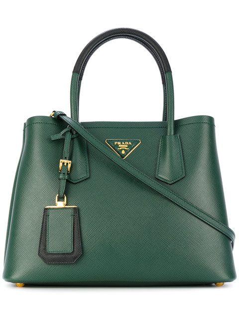74c102676ef8 Prada small Double tote | Werk | Prada, Bags, Shopping
