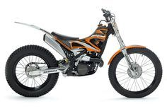 A superlight trials bike you can sit down on: the Scorpa SR125-2T LongRide. I'm tempted to get one for the farm.