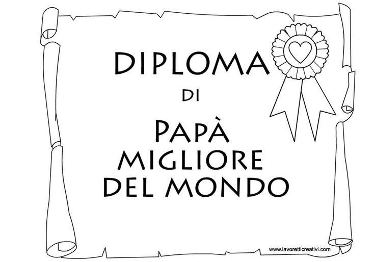 Diploma Papà Migliore del Mondo