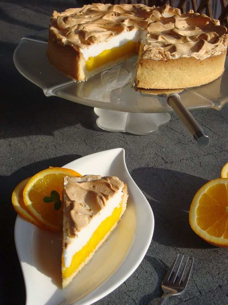 Cytrynowa Kuchnia: Kruche Ciasto z Pomarańczą i Bezą