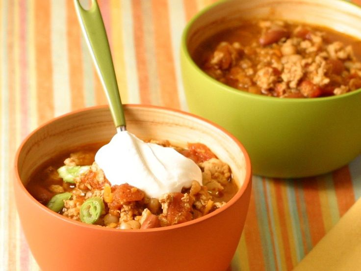 Get this all-star, easy-to-follow Slow Cooker Chicken Chili recipe from Food Network Kitchen.