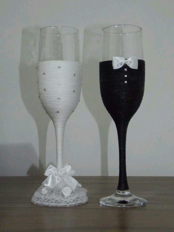 Wedding Wine Glasses-£H