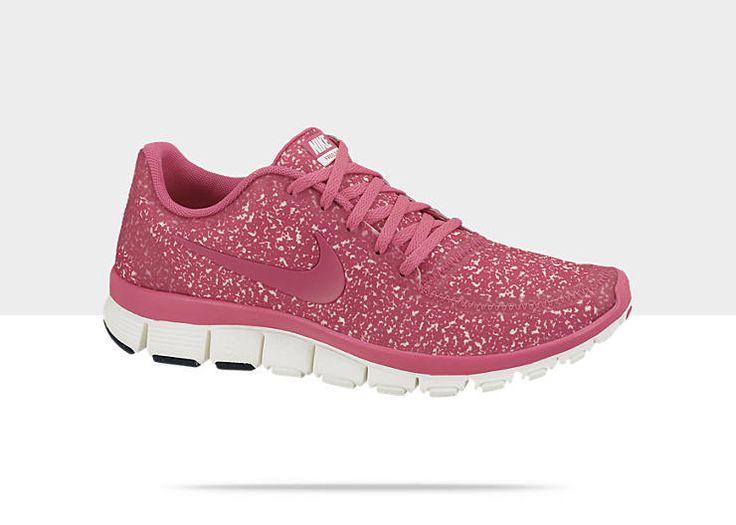 Again, Im predictable....PINK GLITTER! Nike Free 5.0 V4 Womens Shoe
