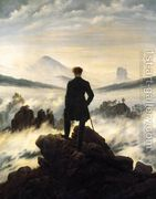 The Wanderer above the Mists 1817-18  by Caspar David Friedrich