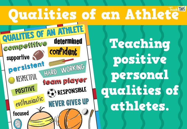 Qualities of an Athlete Poster