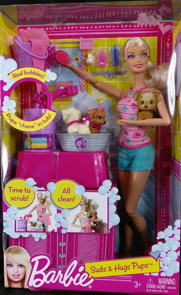 Barbie Club Chelsea// 2 Dolls/& Puppy//w Bowl /& Play Dog Food// Brand new in Package