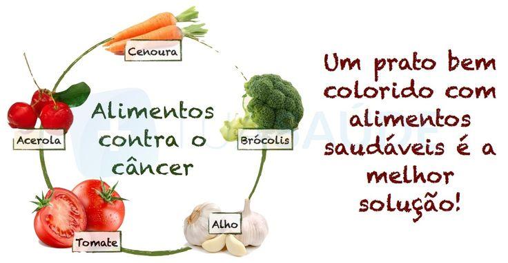 Os alimentos que combatem o câncer são, principalmente, frutas, vegetais e cereais integrais porque têm substâncias específicas, como os antioxidantes...