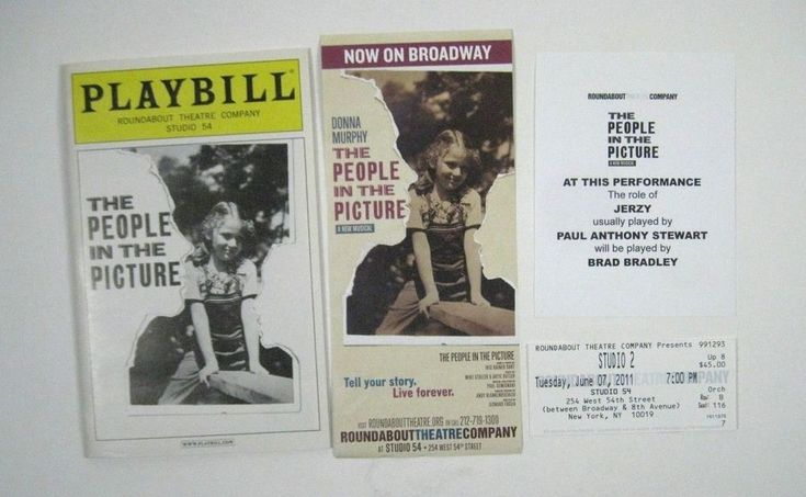 The People in the Picture Playbill 2011 Roundabout Theatre Company Donna Murphy