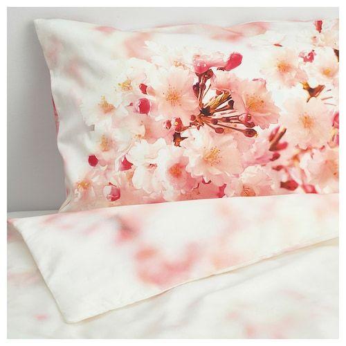 Copripiumino Cos E.Perukbuske Copripiumino E 2 Federe Fiore Bianco Rosa