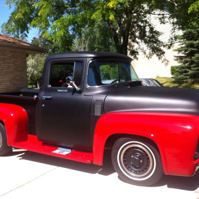 1956 Ford F 100: 100 Colour, Colour Split, 1956 Ford, Ford F100, High Octane Running, Classic Trucks, Awesome Cars, Hot Wheels,  Pickup Trucks