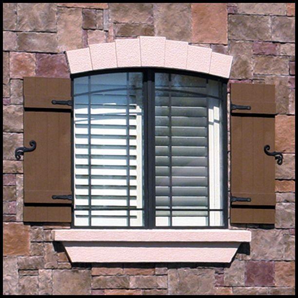 Faux shutters' Vinyl Decorative Hinge Set $12.99 www.hooksandlattice.com