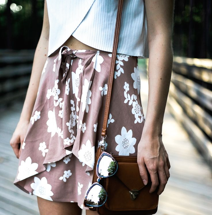 This is a summer outfit lookbook featuring an affordable fashion top, a skirt by For Love and Lemons, Senso Robbie heels, and details by Free People.