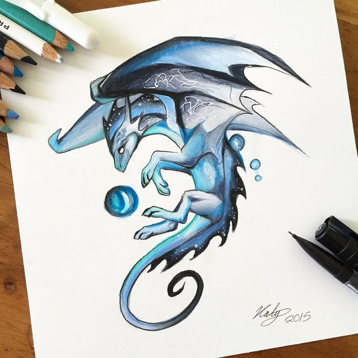 190- Blue Mystic Dragon by Lucky978.deviantart.com on @DeviantArt
