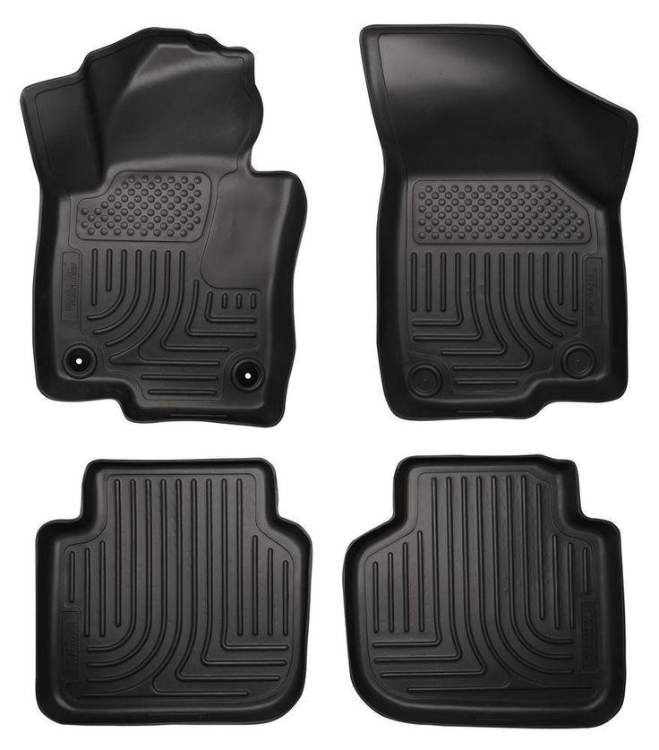 Husky Liners WeatherBeater Black Front & Back Seat Floor Mats - 2012-2015 VW Passat