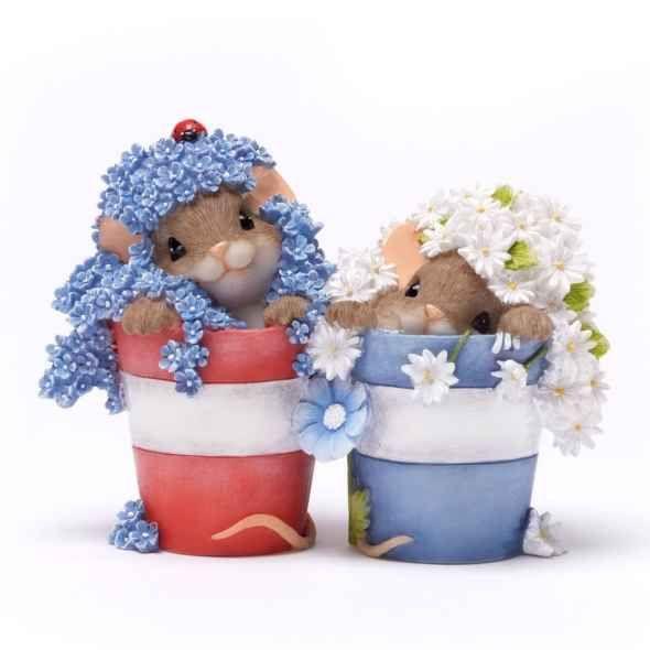 Charming Tails Flower Pot Mice. So precious!