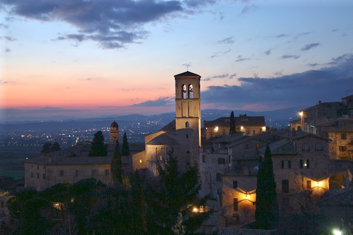 St. Francis Basilica with Sunset, Assisi, Italy © Marsha K. Russell