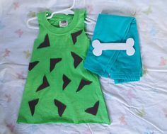 DIY TODDLER PEBBLES FLINTSTONE HALLOWEEN COSTUME /