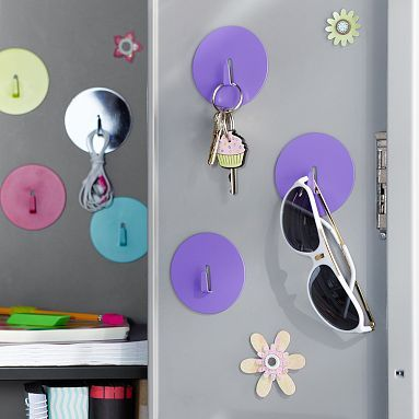 Locker Magnet Hooks, Set Of 3 #potterybarnteen