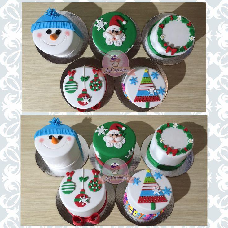 Mini tortas para navidad