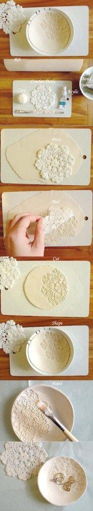DIY... bol de porcelana ( DIY clay bowl) - Handbox   Craft Lovers