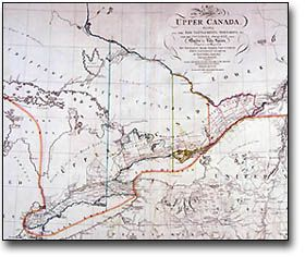 Detail of a map of the Province of Upper Canada, 1800
