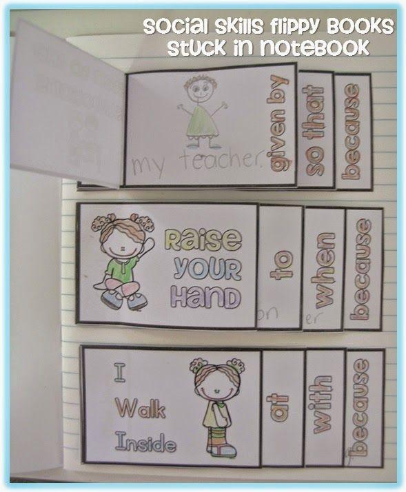 Social skills flippy books.