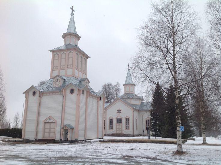 Lutheran Church of Soini, Finland.  Good Friday 2015.  Soinin kirkko.