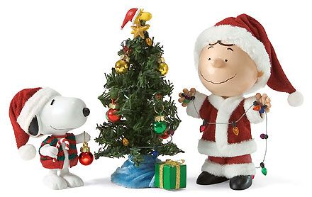 Peanuts - Charlie Brown Snoopy and Woodstock - Merry Christmas Charlie Brown - Possible Dreams - World-Wide-Art.com