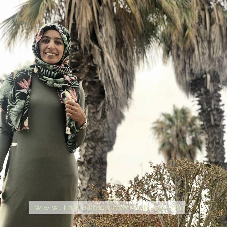 Khaki essential dress www.fabulousinhijab.co.za