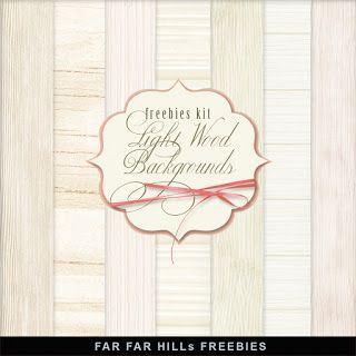 FREE New Freebies Kit - Light Wood Backgrounds:Far Far Hill - Free database of digital illustrations and papers