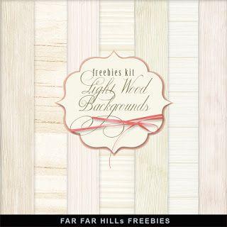 New Freebies Kit - Light Wood Backgrounds:Far Far Hill - Free database of…