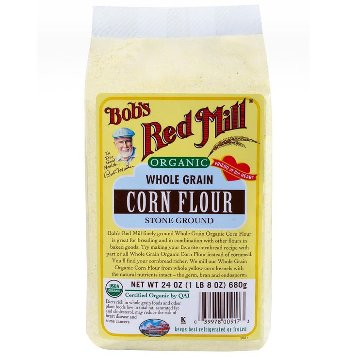 Ingredients: Organic Corn Flour is 100% stone ground and whole grain, including all of the bran, germ and endosperm.