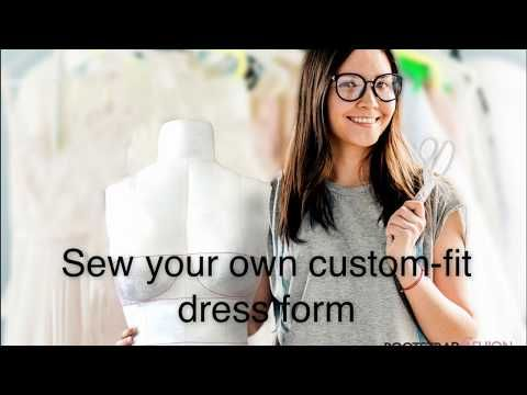 DIY - How To Sew Your Own Custom Fit Dress Form From Scratch / Homemade Fully Pinable Mannequin - YouTube