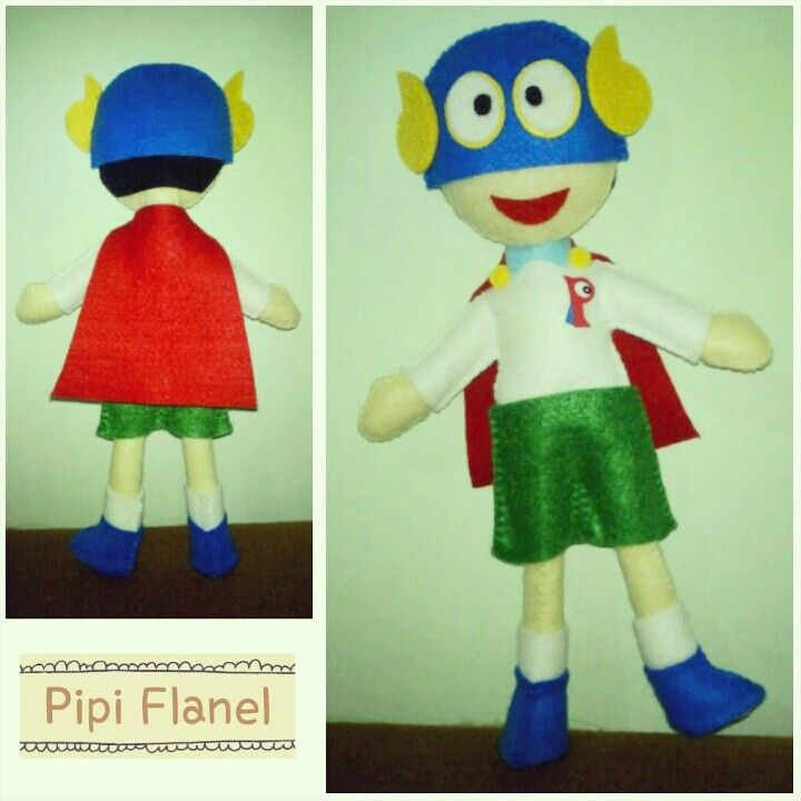Pman Feltdoll made by Pipi Flanel.. Wanna see our feltdolls collection? Please visit our website at www.pipiflanel.com thank you :)