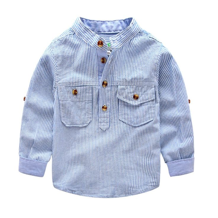 (34.88$)  Watch more here  - Free shipping new arrival spring children's clothes lapel collar long sleeve shirt striped shirt style of England shirt