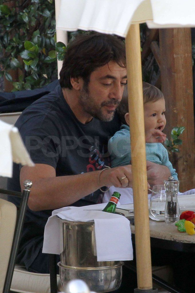 Penelope and Javier Take Little Leo Out For Lunch in Italy: Penelope Cruz and Javier Bardem dined out with their 10-month-old son Leo Bardem in Italy on Saturday.