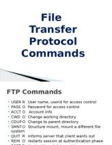 The File Transfer Protocol (FTP) is a standard network protocol used to transfer computer files from one host to another host over a TCP-based network, such as the Internet.