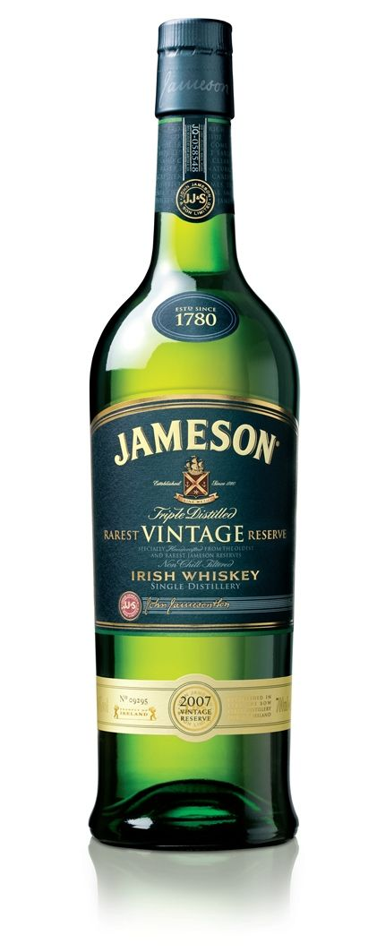 wowsa, wowsa, wowsa. vintage. $300+ a bottle. who knew? aside from being one of the loves of my life, is the design of all Jameson whiskey bottles amazing or what?
