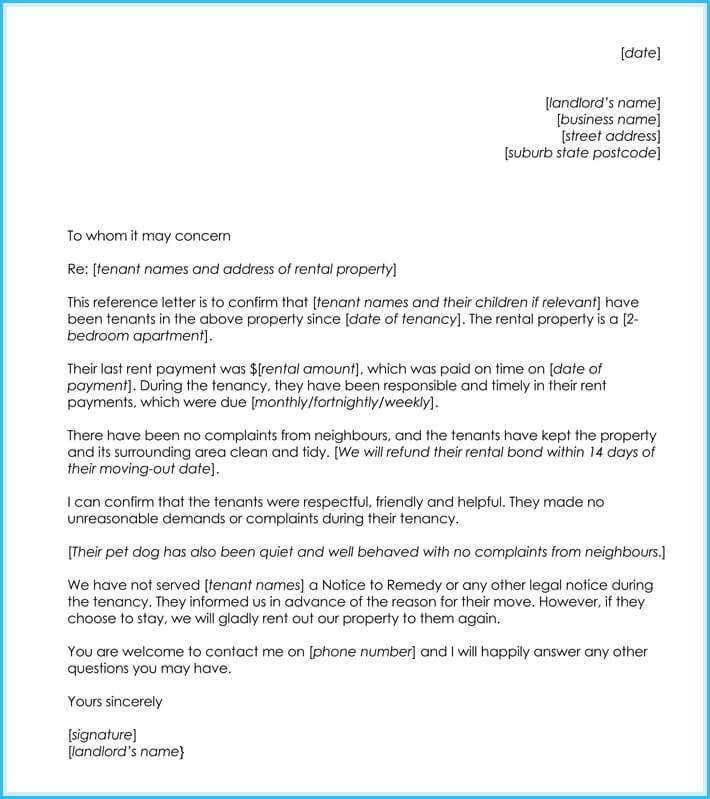 Personal Reference Letter For Housing from i.pinimg.com
