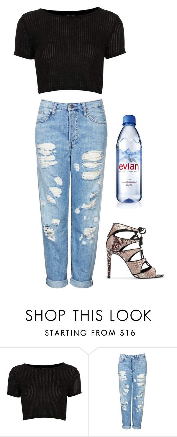 """""""Shirin David 's evian water outfit (instagram)"""" by julesm13 ❤ liked on Polyvore featuring Topshop, Zara and Evian"""