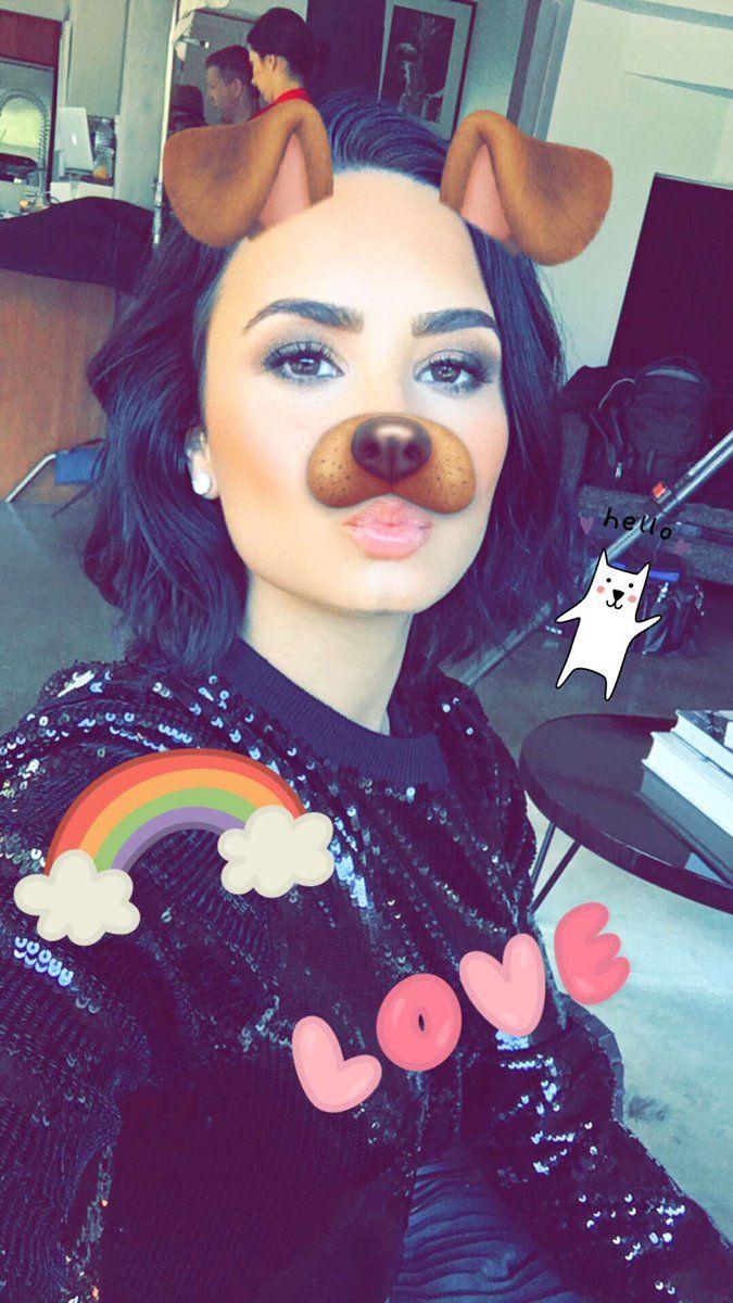♡ On Pinterest @ kitkatlovekesha ♡ ♡ Pin: Snapchat ~ Demi Lovato Dog Filter ♡