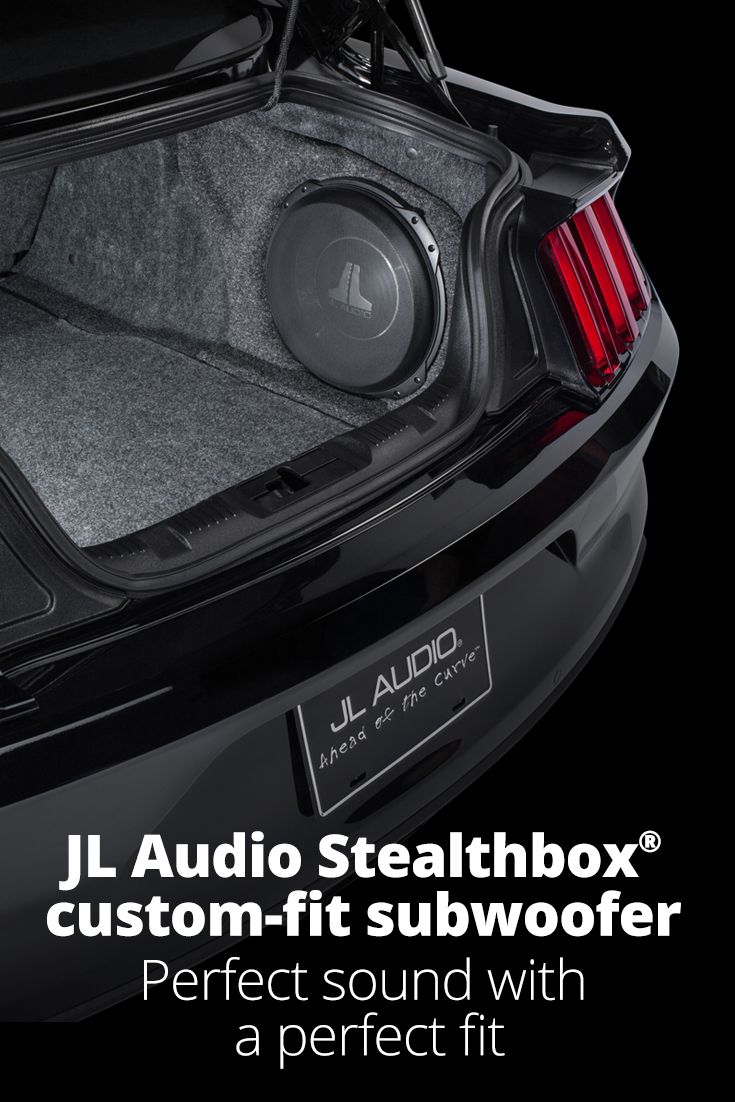 Get big bass without losing space vehicle specific stealthbox subwoofer enclosures from jl