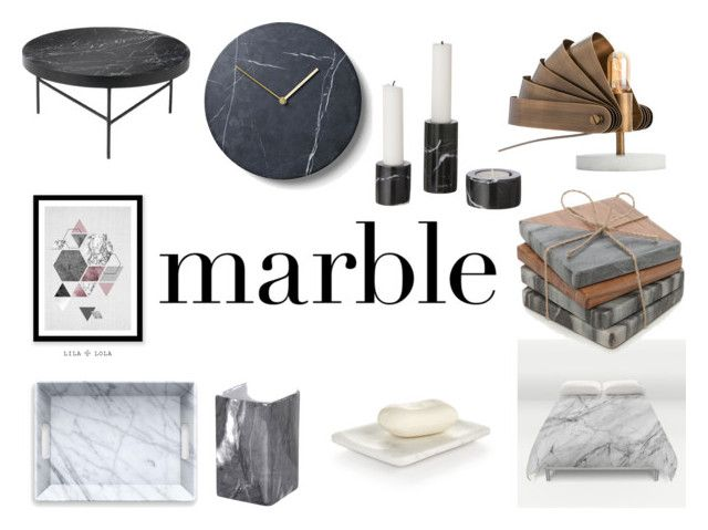 """""""Classic Elegance: Marble Home"""" by gothicvamperstein on Polyvore featuring interior, interiors, interior design, home, home decor, interior decorating, ferm LIVING, Arteriors, Hotel Collection and Posh Totty Designs Interiors"""