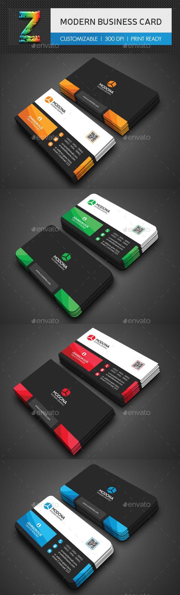Modern Business Card Template PSD. Download here: http://graphicriver.net/item/modern-business-card/16438628?ref=ksioks