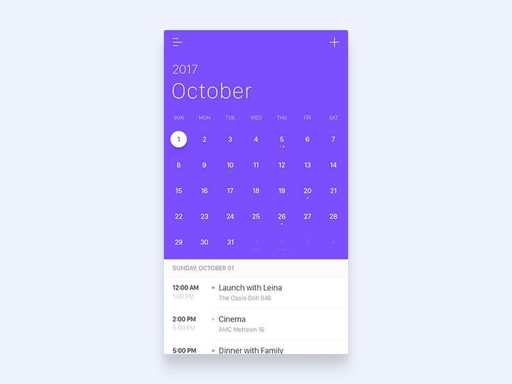 Calendar Vertical And Horizontal Scrolling Combination